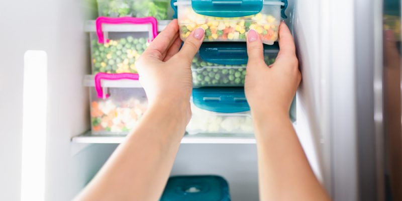Fresh food in refrigerator